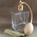 Vaporisateur de parfum poire or vide et rechargeable carré plat 100 ml
