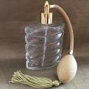 Vaporisateur de parfum poire or plat spirale 110 ml vide et rechargeable