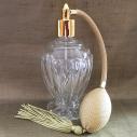 Vaporisateur de parfum poire or boule sur pied 110 ml vide et rechargeable