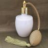 Vaporisateur de parfum poire or verre blanc 125 ml vide et rechargeable