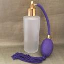 Vaporisateur de parfum poire parme verre givré tube rond 130 ml vide et rechargeable