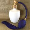 Vaporisateur de parfum poire verre blanc 125 ml vide et rechargeable Poire rétro longue - Au pays des senteurs
