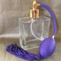 Vaporisateur de parfum poire parme vide et rechargeable carré plat 100 ml