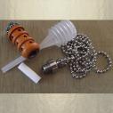 Collier fiole à parfum bois et  argent strass CRISTAL DE SWAROVSKI SCARABAEUS GREEN ouvert