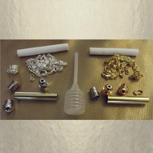 Kits Fioles diffuseur de parfum plaqué or 24K et chrome groupés