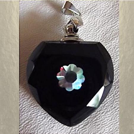Fiole pendentif diffuseur de parfum en cristal avec Strass CRISTAL DE SWAROVSKI artisanal