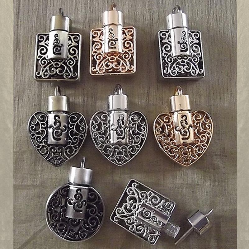 Pendentif fiole à parfum filigrane 3D en relief groupé
