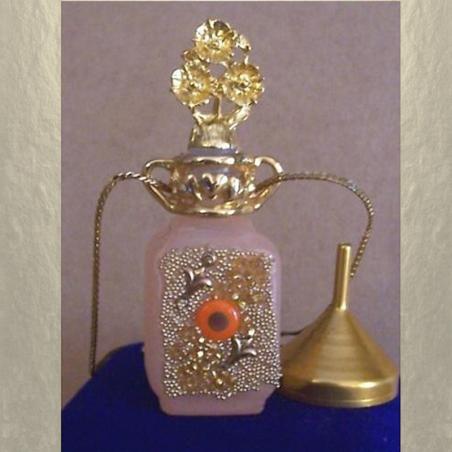 Collier fiole à parfum plaqué or dans écrin modèle 33