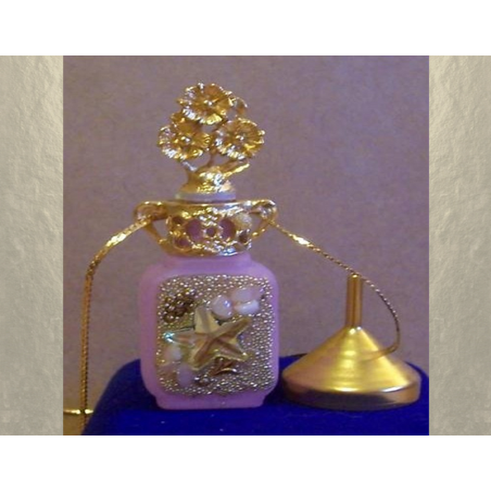 Collier fiole à parfum plaqué or dans écrin modèle 35