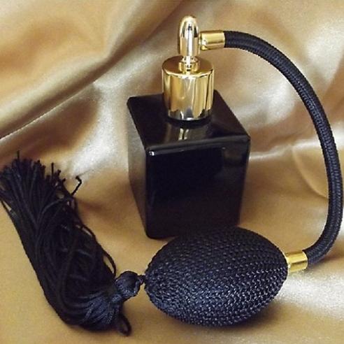 Vaporisateur de parfum poire longue noire verre noir vide et rechargeable 50ml