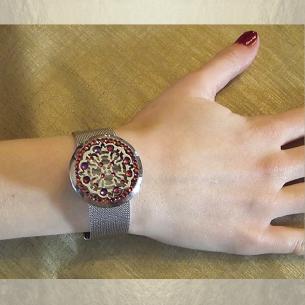 Bracelet diffuseur de parfum CRISTAL DE SWAROVSKI artisanal  - 3