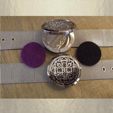 Bracelet diffuseur de parfum CRISTAL DE SWAROVSKI VOLCANO artisanal acier inoxidable 316L stainless steel groupé