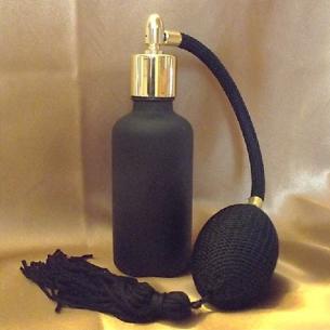 Vaporisateur de parfum poire noire modèle cylindrique verre givré noir Vaporisateurs de parfum - Au pays des senteurs