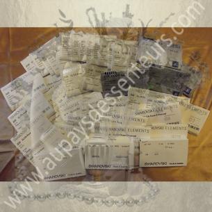 Montre Cristal de swarovski JET artisanale cotte  de maille argent  - 4