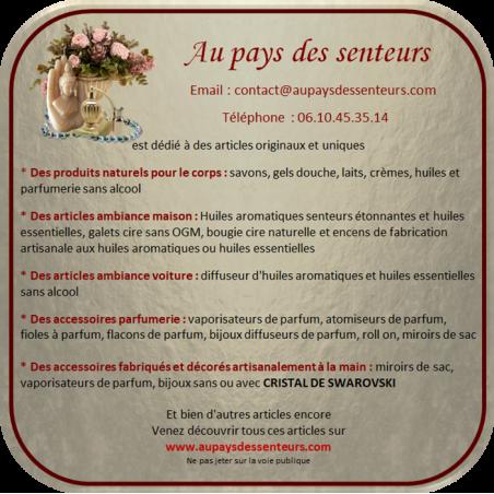 Vaporisateur de parfum poire noire effet miroir argent 50 ml Vaporisateurs de parfum - Au pays des senteurs