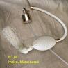 Poires de rechange pour vaporisateurs de parfum + atomiseur de parfum couleur ivoire, blanc cassé