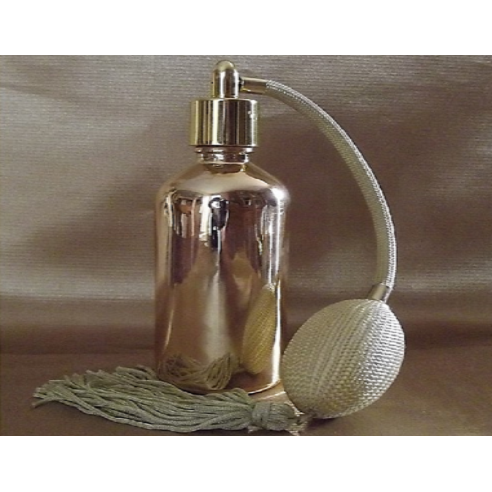 Vaporisateur de parfum poire noire effet miroir or 50 ml