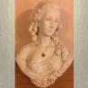 Collier Pendentif fiole Mémorial, fiole à parfum précieux CRISTAL DE SWAROVSKI artisanal cœur or sur buste mannequin