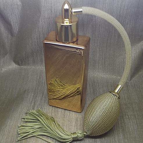 Vaporisateur de parfum poire or effet miroir or rectangle 55 ml Vaporisateurs de parfum - Au pays des senteurs