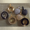 Collier Pendentif fiole Mémorial, fiole à parfum précieux CRISTAL DE SWAROVSKI artisanal base groupée
