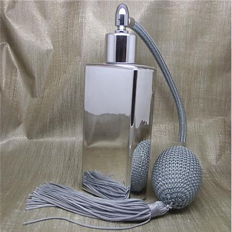 Vaporisateur de parfum poire grise effet miroir argent rectangle 55 ml