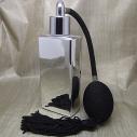 Vaporisateur de parfum poire noire effet miroir argent rectangle 55 ml