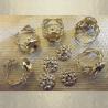 Bague  filigrane pavé ajustable  plaqué or groupées