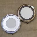 Miroir de sac de luxe bronze et argent décoration artisanale Cristal de Swarovski base