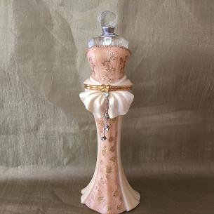 Fiole à parfum cristal, coffret à bijoux mannequin  - 1