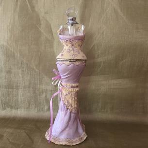 Fiole à parfum cristal, coffret à bijoux mannequin 2 de dos