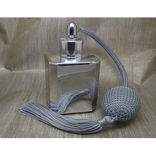 Vaporisateur de parfum poire grise effet miroir argent carré 55 ml Vaporisateurs de parfum