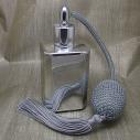 Vaporisateur de parfum poire grise effet miroir argent carré 55 ml