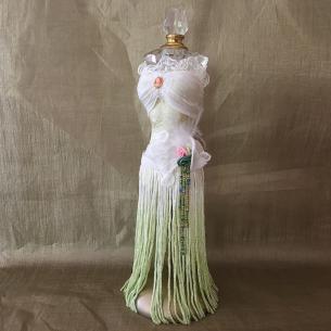 Fiole à parfum cristal mannequin  - 1