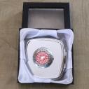 Miroir de sac Cristal de swarovski HYACINTH AB, porte photo de luxe argent décoration artisanale dans coffret cadeaux