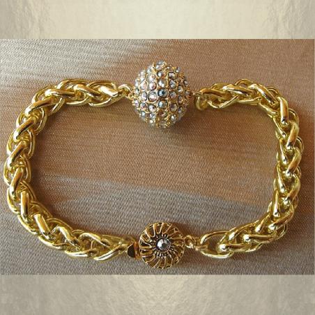 Bracelet CRISTAL DE SWAROVSKI boule Mesh Ball JONQUIL AB artisanal