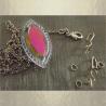 Collier pendentif vintage CRISTAL DE SWAROVSKI marquise   Réf  6236 plaqué or  groupé