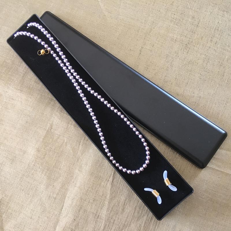 Collier CRISTAL DE SWAROVSKI, cordon à lunettes CRISTAL DE SWAROVSKI 2 en 1 perles MAUVE CRISTAL DE SWAROVSKI dans Écrin collier