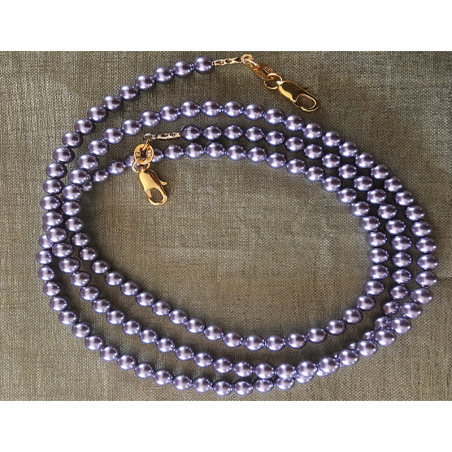 Collier CRISTAL DE SWAROVSKI, cordon à lunettes CRISTAL DE SWAROVSKI 2 en 1 perles MAUVE CRISTAL DE SWAROVSKI gros plan