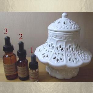 Diffuseur de parfum , brûle parfum en céramique bonbonnière dentelle  - 1