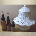 Diffuseur de parfum , brûle parfum en céramique bonbonnière dentelle