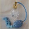 vaporisateur de parfum poire bleu  modèle boule sur pied 50 ml