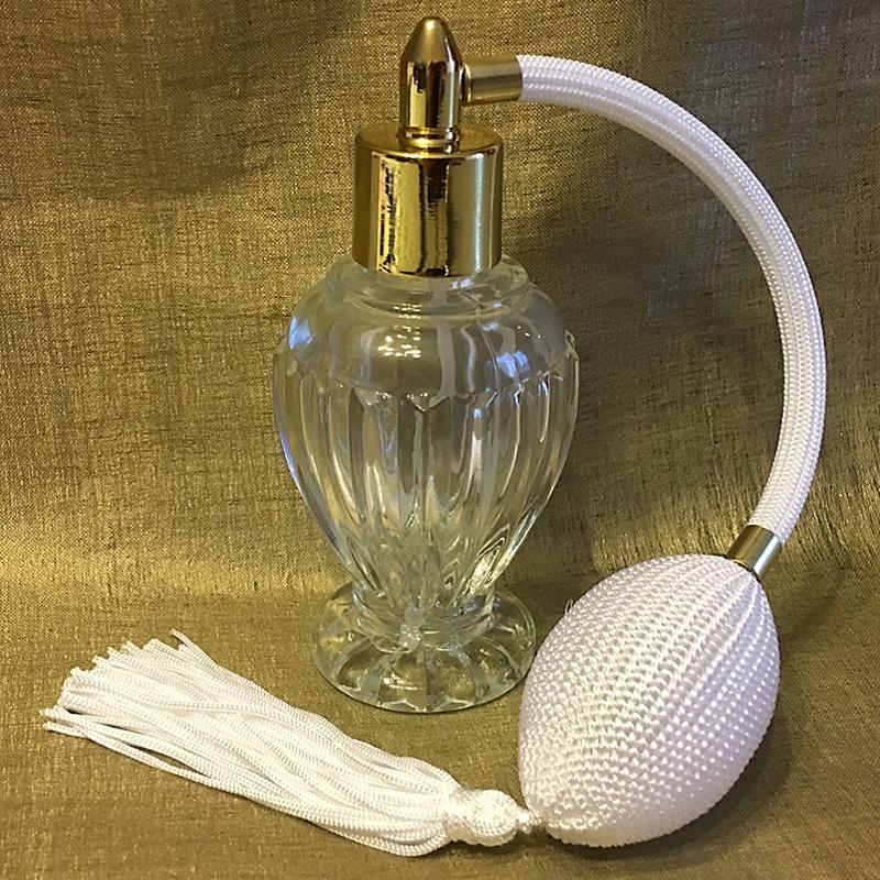 vaporisateur de parfum poire blanche modèle boule sur pied 50 ml