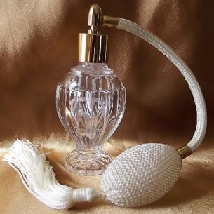 vaporisateur de parfum poire ivoire modèle boule sur pied 50 ml