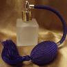 Vaporisateur de parfum poire violet bleu carré givré 50ml