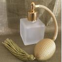 Vaporisateur de parfum poire or carré givré 50ml