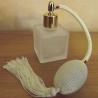Vaporisateur de parfum poire ivoire, blanc cassé carré givré 50ml