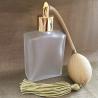 Vaporisateur de parfum poire or verre carré givré 60 ml