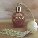 Vaporisateur de parfum poire or vide et rechargeable 60 ml finition artisanale rouge bordeaux or