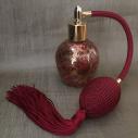 Vaporisateur de parfum poire bordeaux vide et rechargeable 60 ml finition artisanale rouge bordeaux or