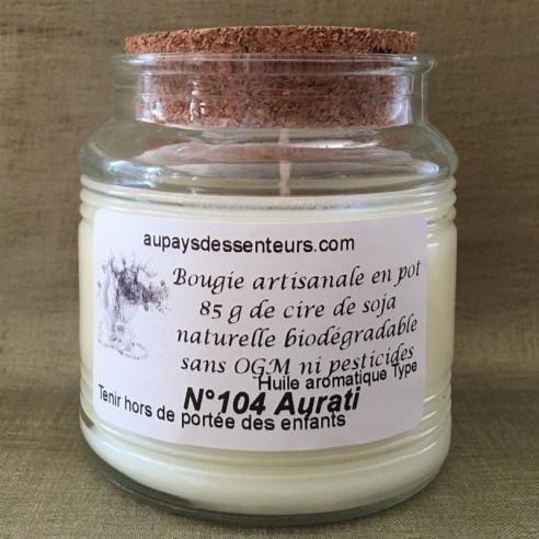 Bougie parfumée artisanale en pot cire naturelle de soja